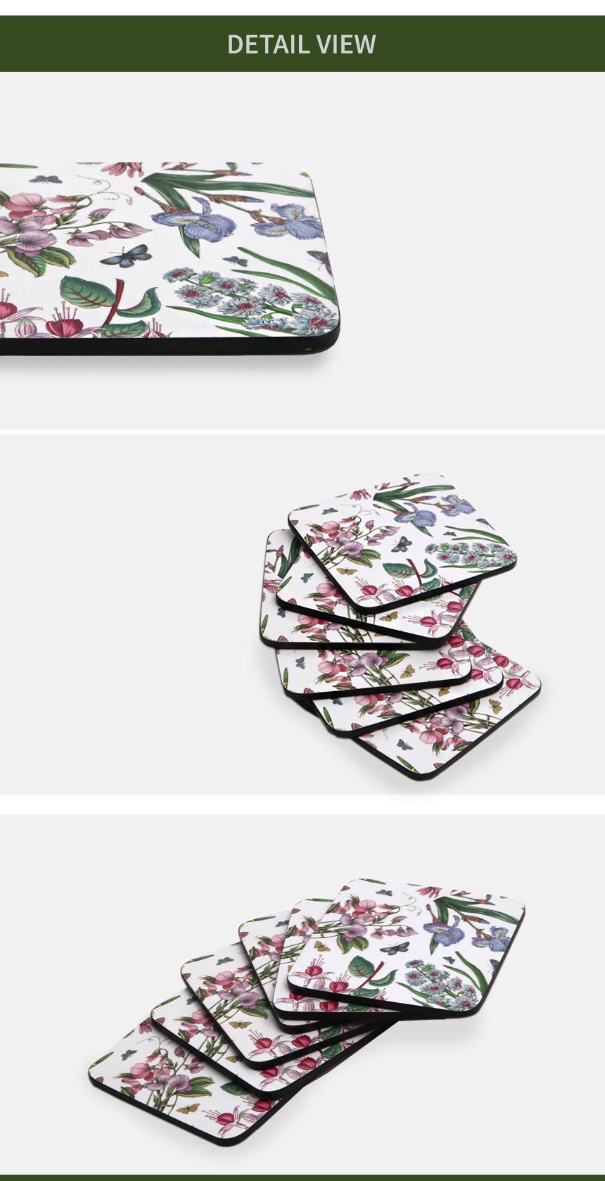보타닉가든 친즈 코스터 6P - 비스비바, 12,100원, 컵받침/뚜껑/홀더, 컵받침